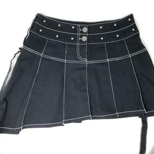 ILLIG Women's Size Small S Black Gothic Skirt